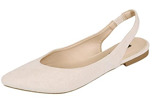 Zapatos de salón Beige con tacón Plano Vices 37 EU
