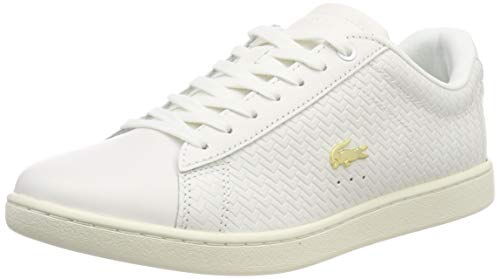 Lacoste Damen Carnaby Evo 119 3 SFA Sneaker, Elfenbein (Off Wht/Off Wht 18c), 37 EU