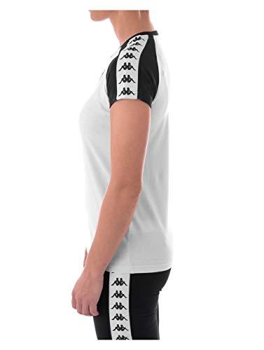 Kappa APAN Auth T-Shirt, Femmes L Blanc/Noir