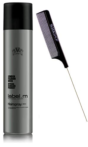 Label M Hairspray, Aerosol Vitamin Enriched Holding Hair Spray with UV Shield (w/Sleek Comb) Haircare Style - No Build-up! (10.1 ounce)