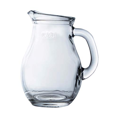 Clear Glass Water Pitcher, Theekruik | Drank, Sap, Citroen Decanter | voor Lunch, Diner, Feesten, Evenementen Mini-250cc