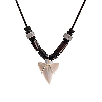 PCGF Shark Tooth Necklace for Boys - Fashion Pendant Necklaces for Men and Women, Real Natural Shark Tooth Necklace Jewelry, Birthday Gifts for Men