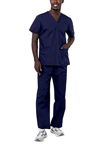 Adar Universal Divise sanitarie Unisex - Divise ospedaliere con Cordoncino - 701 - Navy - M