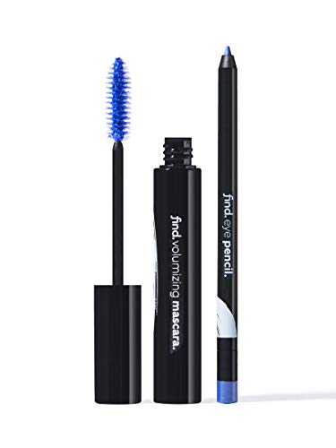 FIND - Flash Blue - Volumen-Mascara (blau)+ Augenkonturenstift (blau) mit Spitzer
