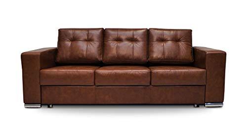Quattro Meble Echtleder 3 Sitzer Sofa Mallorca Pik FS Breite 205cm mit Schlaffunktion Ledersofa Echt Leder Couch mit Bettfunktion große Farbauswahl !!!