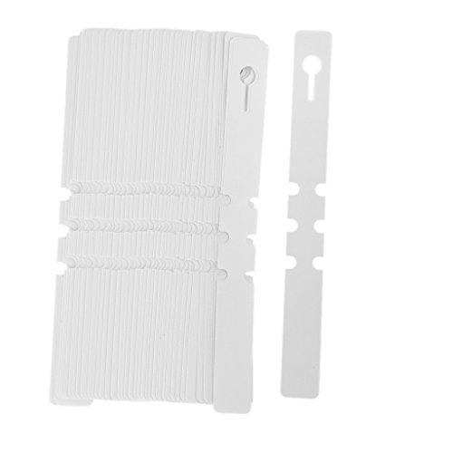 100 Stk. PVC Gewächshaus Gartenbau Pflanzenstab Hänge KragenmUmbau Aufkleber (Weiß)