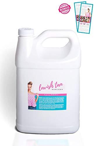 Best Organic Airbrush Spray Tan Solution - (128oz)