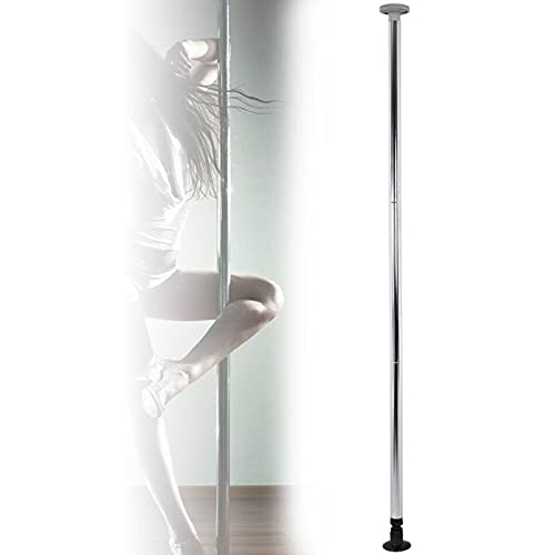 Ukiki Barre Pole Dance Tige en Acier Inoxydable Barre de Pole Dance Pole de Danse Static et Rotative 50mm Gogo Lap Table Dance Pole Dance Barre Professionnelle 90kg Fitness Portable Maison Argent