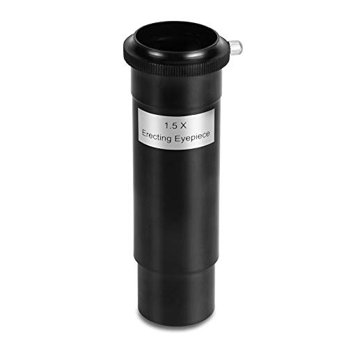 1.25' Erecting Barlow Lens 1.5X Universal T Adapter - Multi-Coated Lens for Telescope Eyepiece