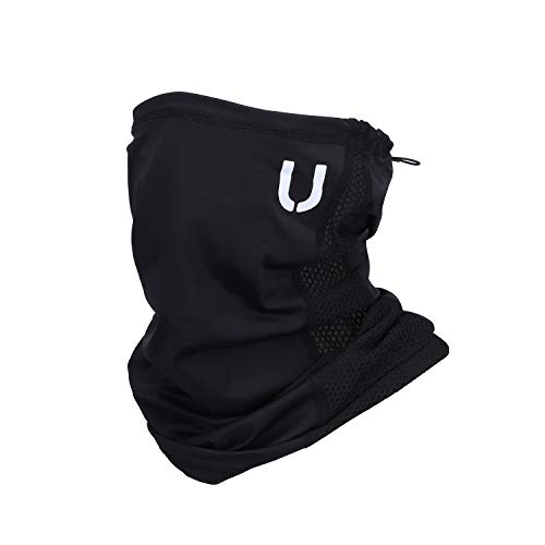 UPALOO Neck Gaiter Adjustable Drawstring Face Cover Sport Mask Lightweight Breathable Fabric Reusable Machine Washable