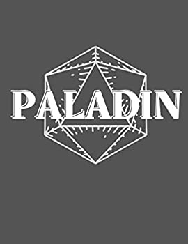 Paladin Notebook Character Campaign Journal - College Ruled Hex & Graph Paper - 120 Pages  8.5  x 11 inch