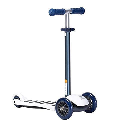 Lcxliga Scooters for niños Scooter for niños pequeños: Planeador de Aluminio de 3 Ruedas Kick N Go, Ruedas inclinadas de 2 Vueltas
