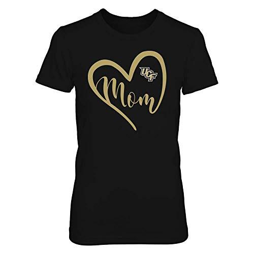 FanPrint UCF Knights T-Shirt - Heart Mom - Team - Women