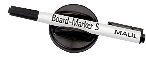 Maul Tafelwischer mit Board-Marker S, Wischer 5 cm, magnethaftend, finepoint-Marker mit 1, 5-2 mm Rundspitze, Schwarz