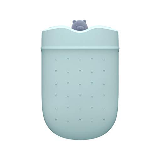 HYAN Botella de Agua Caliente Botella microondas Silicona Agua Caliente con extraíble de Punto Cubierta a Prueba de explosiones de Agua Caliente Bolsa de Caliente y fría Terapia (Color : Green)