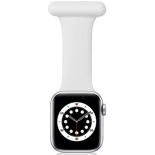 Correa Compatible con Apple Watch Correa Fob 40mm 38mm 44mm 42mm, diseño de Control de infecciones Fob de Silicona para Enfermeras parteras médicos paramédicos para iWatch Series SE/6/5/4/3/2/1