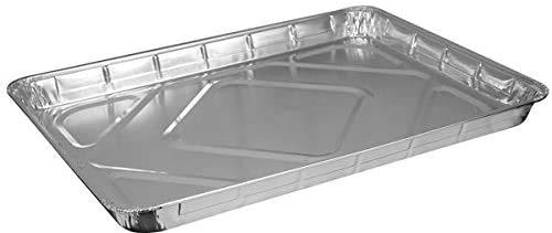 Confezione da 3 teglie usa e getta in alluminio resistente, extra large, 33 x 44 cm, ideali per cuocere arrosti, cuocere, cuocere cibi e molto altro ancora.