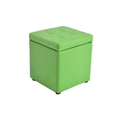 WJXBoos Otomana de Almacenamiento apilada DM Square Cube Faux Leather Cube, Lounge Home Stool (Color: # 9)