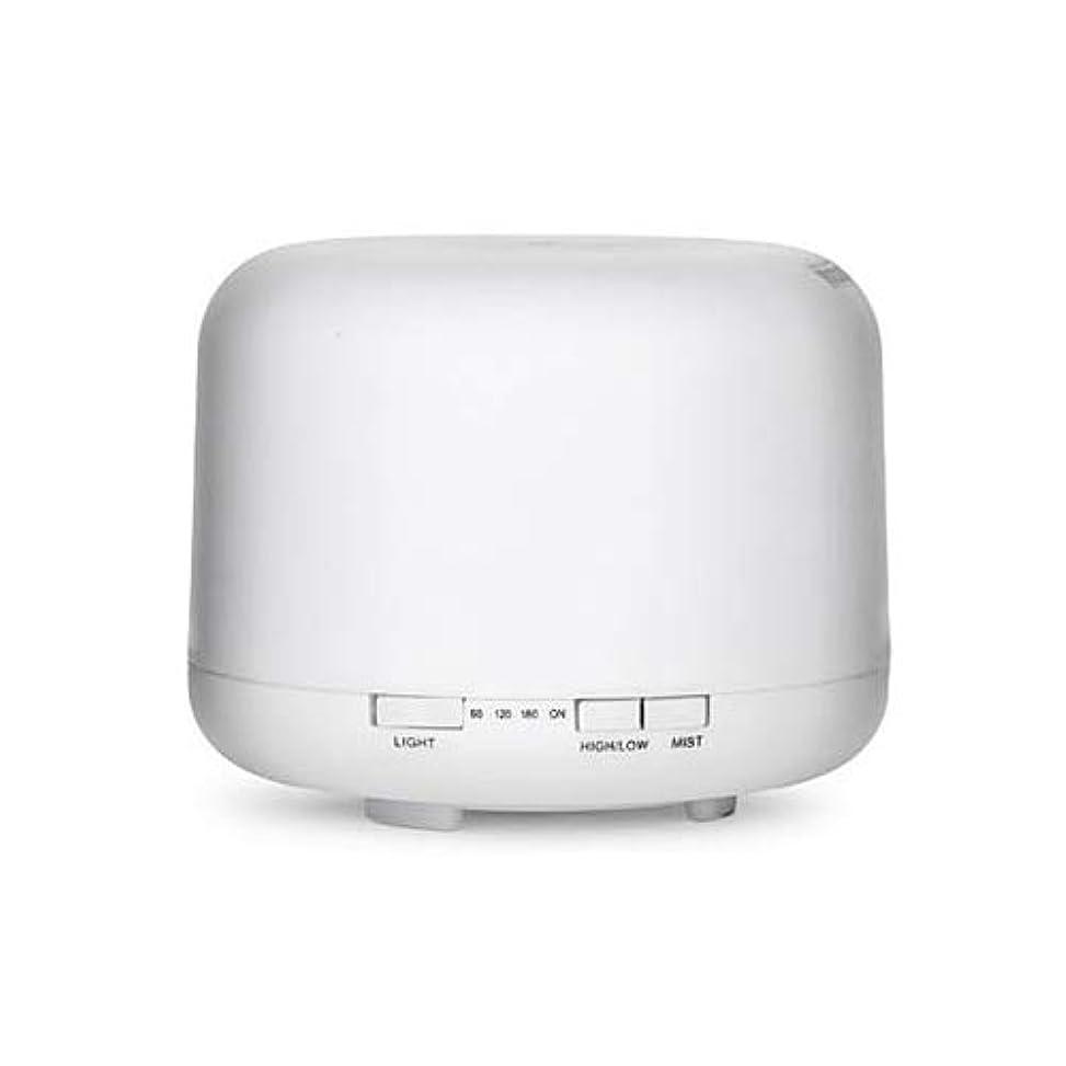 ミンチショッキング団結WONDER LABO》超音波加湿器 ミスト アロマディフューザー 加湿器 気化式 乾燥対策 7色変換LED付き 卓上 オフィス 空焚き防止 静音 500ml