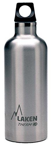 Laken Futura Botella Térmica de Acero Inoxidable 18/8 y Aislamiento de Vacío con Doble Pared, Plateado, 350 ml