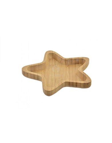 Home Line Bandeja-Plato de bambú para Aperitivos, con Original diseño de Estrella-Hogar y Mas