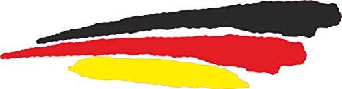 INDIGOS UG - Aufkleber - Autoaufkleber - JDM - Die Cut - Auto - Fahne Deutschland - Germany - 3 Streifen - 110x30 mm - Heckscheibe - Heckscheibenaufkleber Boot Auto Laptop Tuning Sticker LKW