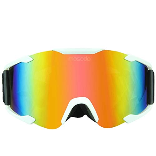 YUHUII Brille Cross-Country-Motorradbrille Outdoor Radfahren Goggles Bergsteigen Mirror Dazzle Color Piece of Goggles A001