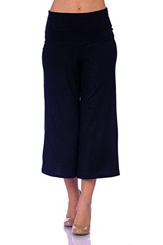 SR Women's Knit Capri Culottes Pants (Size: S - 5X), 2X, Black