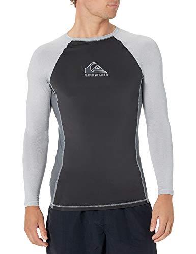 Quiksilver Camisa de surf Backwash Ls de manga larga para hombre - azul - X-Large