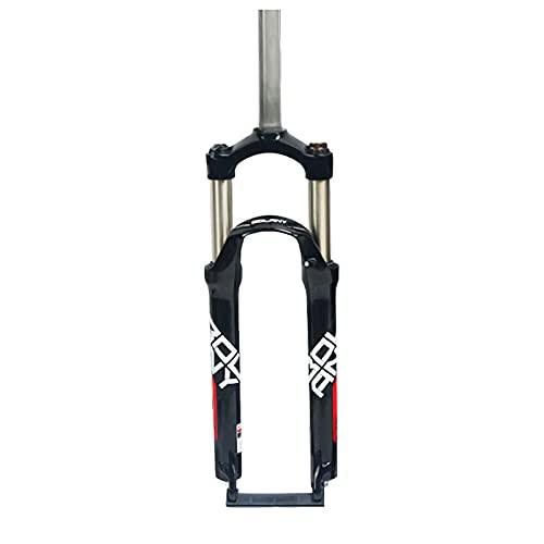 CAREXY Horquilla De Bicicleta MTB, 26/27,5/29 Pulgadas, Aleación De Aluminio, Amortiguador De Bicicleta, Horquilla Mecánica, Tubo Recto, Viaje, 100Mm, Piezas De Bicicleta,Black 2,26''