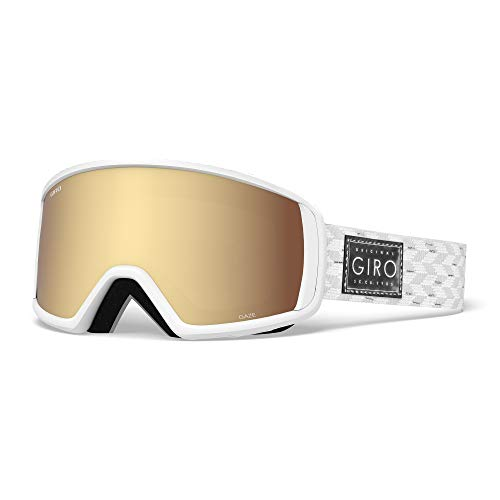 Giro Gaze Masque de Ski pour Femme Taille Unique White Silver Shimmer