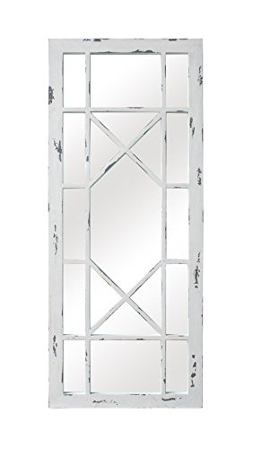 Sbc Decor Jardin Geometric Window Pane Wall Mirror 21 5 8 X 53 1 8 X 1 1 8 Distressed White Buy Online In Barbados At Desertcart Productid 84094691