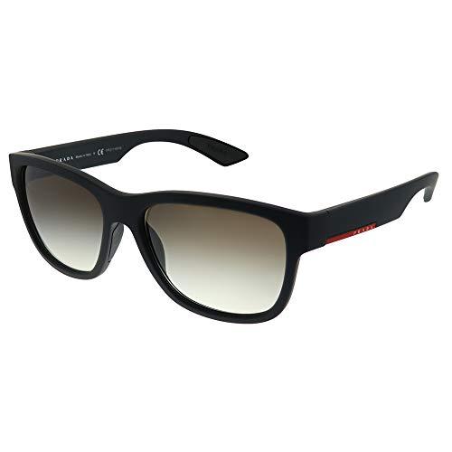 Prada SPORT Herren 0Ps03Qs Dg00A7 57 Sonnenbrille, Schwarz (Black Rubber/Greygradient)