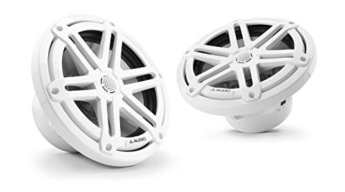 JL Audio M3-770X-S-Gw: 7.7-inch (196 mm) Marine Coaxial Speakers, White Sport Grilles