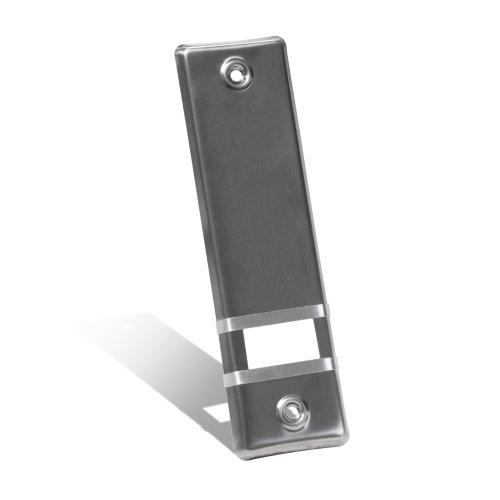 JAROLIFT Design Edelstahl Abdeckplatte für Gurtwickler/Lochabstand: 160 mm/Farbe: silber