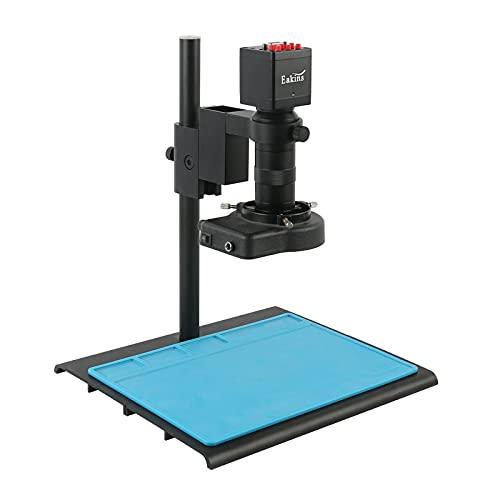 Yhtech 13MP HDMI VGA VGA Microscopio Cámara 8X -100x Zoom C-Mount Lens 56 LED Luces LED para soldar Herramientas de reparación de teléfonos PCB