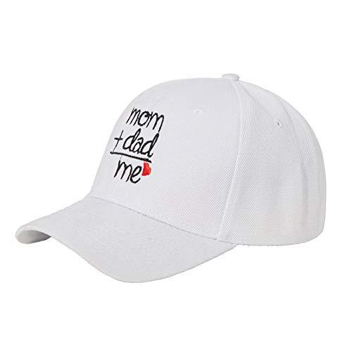 fasloyu Basecap Baby Jungen Verstellbar - Stickerei Schildmütze Sonnenhut für Kinder Kappe Trucker Hut Sonnenhut (Weiß)