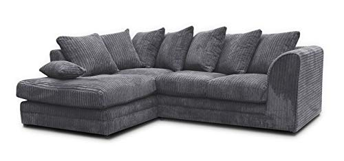 Honeypot - Sofa - Harley Jumbo Cord - Grey - Fabric (Left Hand Facing Corner)