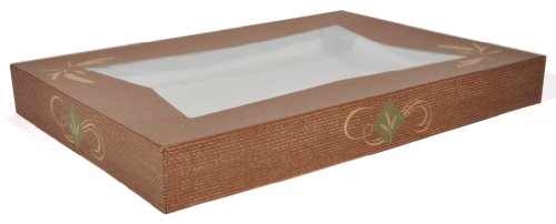 """Southern Champion Tray 24256 Clay Coated Kraft Paperboard Hearthstone Window Bakery Box Top, 26-1/2"""" Length x 18-5/8"""" Width x 3"""" Height, Fits Bottom #1190 and #1192 (Case of 50)"""