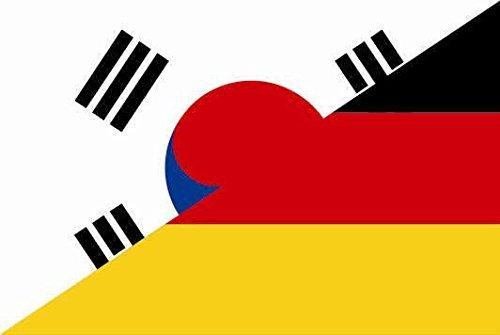 U24 Motorradflagge Süd Korea-Deutschland Fahne Flagge 20 x 30 cm