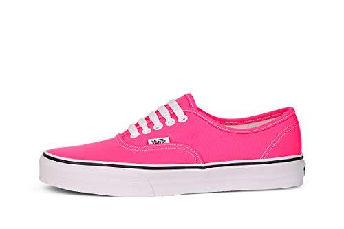 Vans Authentic Mädchen Sneaker, Pink ((Neon) pink/true white), 30.5 EU