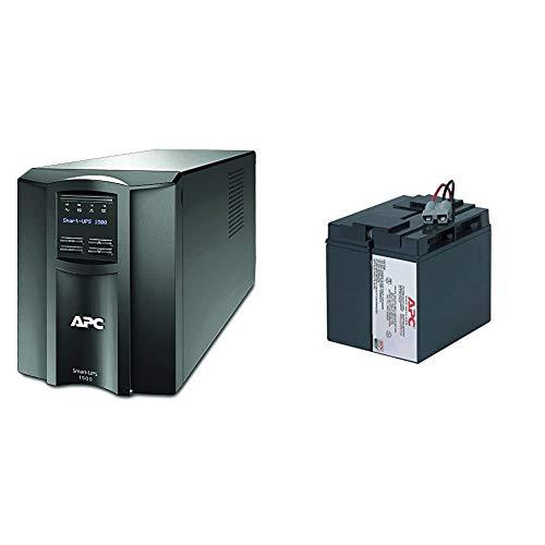 APC 1500VA Smart UPS with SmartConnect, SMT1500C Sinewave UPS Battery...