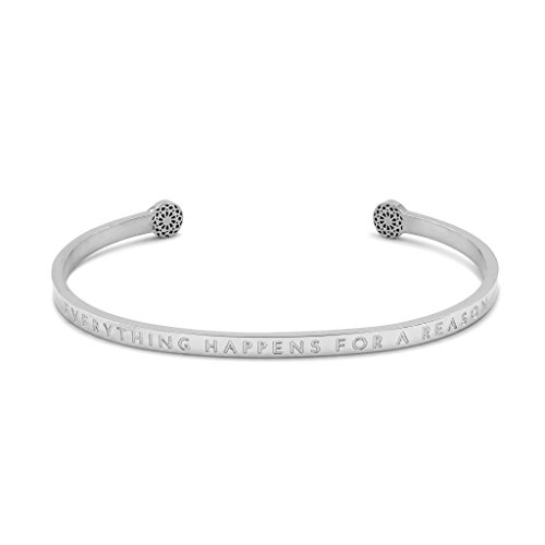 Simple Pledge - Everything Happens for a Reason - Blind - Armreif in Silber mit Gravur für Damen