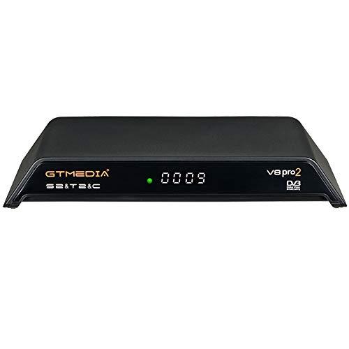 GT MEDIA V8 PRO2 Decoder Satellitare TV Sat Ricevitore Digitale Terrestre DVB-S/S2/S2X DVB-T/T2 DVB-Cavo 1080P Full HD H.265 HEVC MPEG-2/4 Built-in WiFi Compatibile con YouTube CCcam