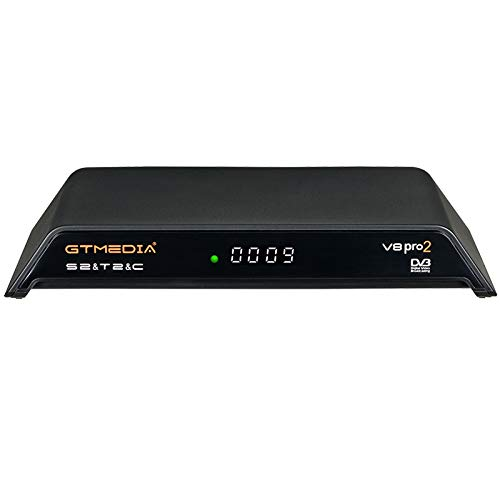 GT MEDIA V8 PRO2 Decodificador TDT Terrestre HD Receptor TV Satelite Digital DVB-S/S2/S2X DVB-T/T2/Cable/ISDBT, 1080P Full HD H.265 HEVC WiFi, Soporte CCcam Newcam PVR Youtube