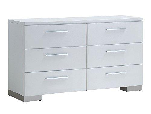 Furniture of America Christie Dressers, High Gloss White