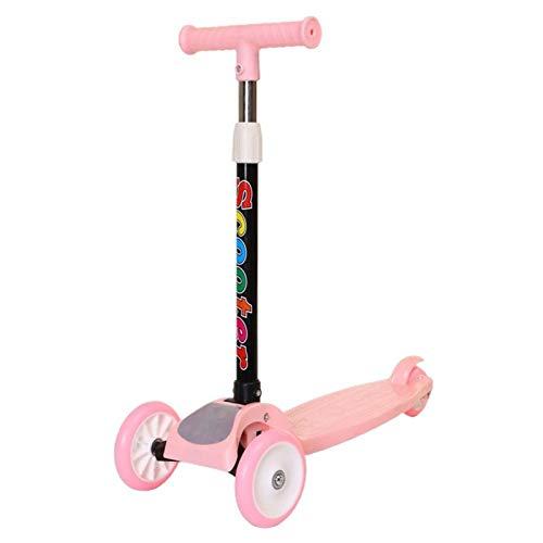 ZHANGJIAN Scooter de Kick de 3 Ruedas con Ruedas Intermitentes Rueda Luminosa para niños de 2 a 8 años Easter Decoration (Color : Pink)