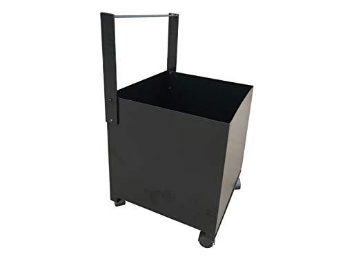 PURLINE EFP19 Cubo porta leña de acero color negro con