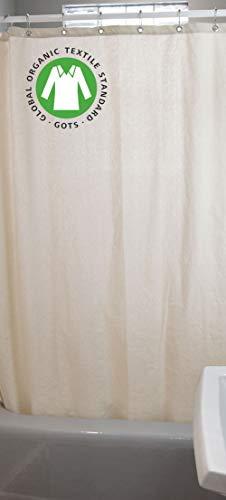 Bean Products Baumwoll-Duschvorhang – Hanf – Leinen, Bio-Baumwolle, Badewannen- & Stallgrößen – Keine Einlage nötig – umweltfre&lich 36
