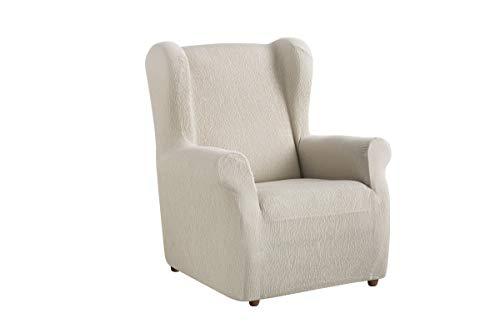 Textil-home Stretchhusse für Ohrensessel TEIDE, 1 Sitzer - 70 a 100Cm. Farbe Elfenbein